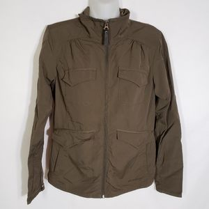 Eddie Bauer Jacket Travex Lined Full Zip Pockets